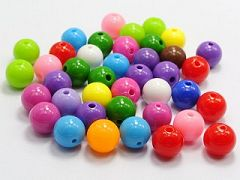 "100 Mixed Bubblegum Color Acrylic Round Beads 12mm(1/2"") Smooth Ball"