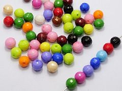 100 Mixed Bubblegum Color Acrylic Faceted Round Beads 10mm Disco Ball Beads