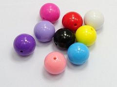 20 Mixed Bubblegum Color Acrylic Round Beads 20mm Smooth Ball