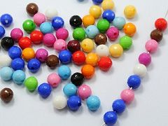 "200 Mixed Bubblegum Color Acrylic Faceted Round Beads 8mm(0.32"")"