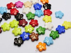 50 Mixed Bubblegum Color Acrylic Faceted Flower Charm Beads 18X18mm