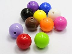 "20 Mixed Bubblegum Color Acrylic Round Beads 18mm(0.7"") Smooth Ball"