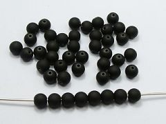 "200 Matte Fluorescent Neon Black Beads Acrylic Round Beads 8mm(0.32"")"