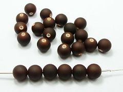 "100 Matte Fluorescent Neon Brown Beads Acrylic Round Beads 12mm(1/2"")"
