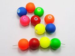 "15 Mixed Matte Fluorescent Neon Beads Acrylic Round Beads 20mm(3/4"")"