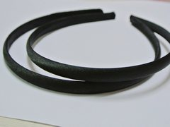 10 Black Plastic Headband Covered Satin Hair Band 9mm for DIY Craft