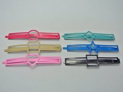 15 Assorted Colourful Metal Flat Hair Pin Clips Barrette Heart Square Star ect