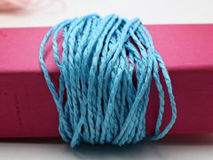 100 Meters Blue Mulberry Paper String Twine Cord Crafting Floristry Collage