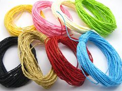 100 Meters Mixed Colour Mulberry Paper String Twine Cord Cord Crafting Floristry 10 Color