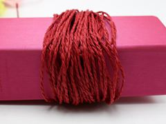 100 Meters Red Mulberry Paper String Twine Cord Crafting Floristry Collage