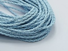 32.8 Feet Sky Blue BOLO Braided Leatherette String Jewelry Cord 3mm