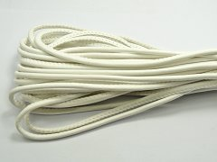 32.8 Feet White Stitched Round Soft Synthetic Leather String Jewelry Cord 5mm