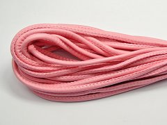 32.8 Feet Pink Stitched Round Soft Synthetic Leather String Jewelry Cord 5mm