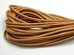 32.8 Feet Coffee Stitched Round Soft Synthetic Leather String Jewelry Cord 5mm