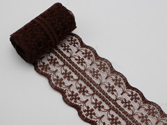 10 Meters Brown Bilateral Handicrafts Embroidered Lace Trim Ribbon 45mm Sewing Wedding Craft
