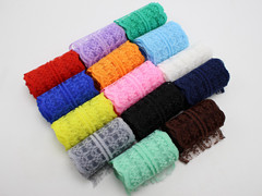 14 Meter Bilateral Handicrafts Embroidered Lace Trim Ribbon 45mm 14 Color Sewing Wedding Craft