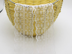 10 Meters White Bilateral Handicrafts Embroidered Lace Trim Ribbon 45mm Sewing Wedding Craft