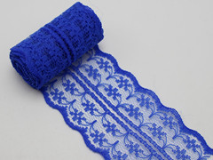 10 Meters Royal Blue Bilateral Handicrafts Embroidered Lace Trim Ribbon 45mm Sewing Wedding Craft