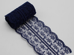 10 Meters Navy Blue Bilateral Handicrafts Embroidered Lace Trim Ribbon 45mm Sewing Wedding Craft