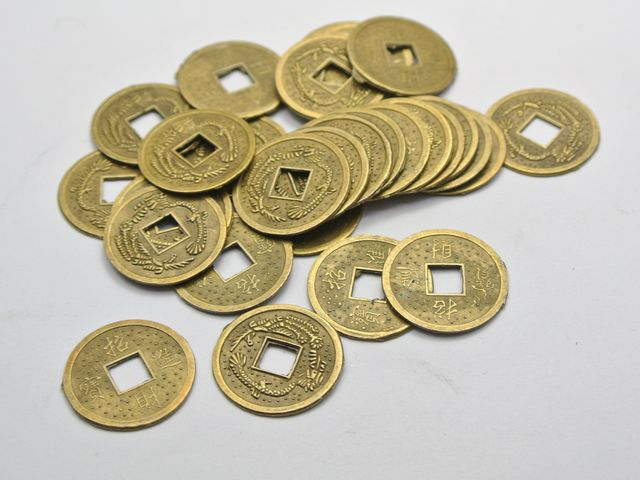 50 feng shui coins 19mm lucky chinese fortune coin i - Feng shui good luck coins ...