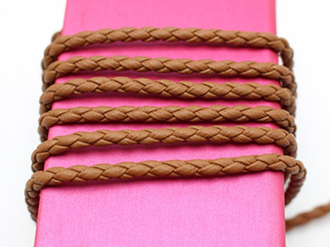 16 4 Feets Coffee Braided Bolo Leatherette String Jewelry