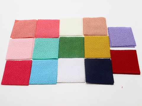 100pcs Organza Fabric Squares Sheets 40mm Die Cuts Applique For Tsumami Flower