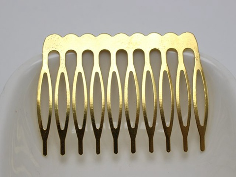 5 Silver Tone Metal 30-Teeth Hair Side Combs Clips 110X37mm for Hair Accessories