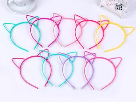 10 Mixed Color Plastic Bows Hair Tiara Princess Headband Hair band With Teeth