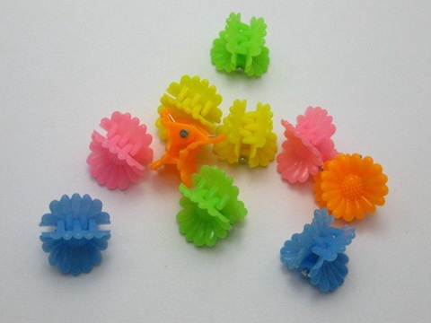 100 Mixed Color Assorted Plastic Mini Hair Pin Clamp Clip Bows 22X16mm DIY Craft