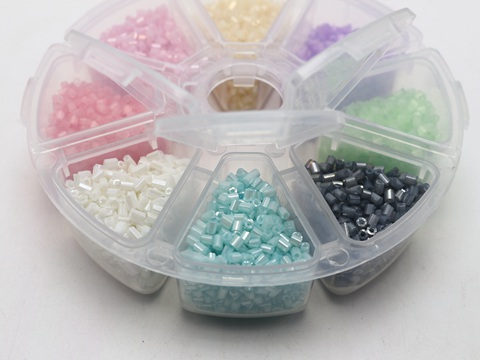 6000pcs Glass Opaque Seed Beads Storage Box 10//0 100 gram 2mm