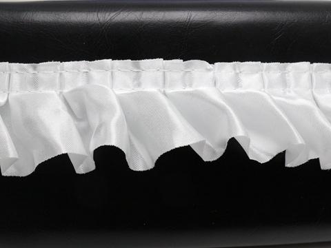 5 Meters White Ruffle Unilateral Satin Ribbon Trim 40mm Sewing Wedding Craft DIY