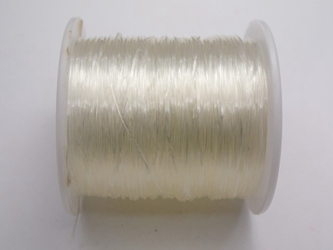 100 Meter Clear Crystal String Stretch Elastic Beading Cord Thread 0.5mm-1mm