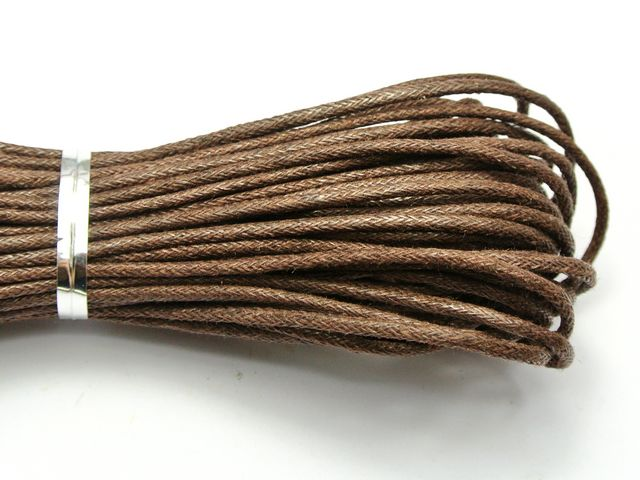 5//20 Yards Round Rope Leather Cord Thread Wax Macrame Beading Jewelry String